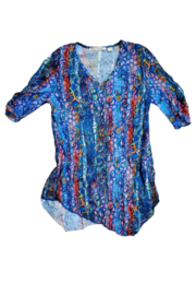 Sno Skins Jewels Crinkle Tunic - Front full body