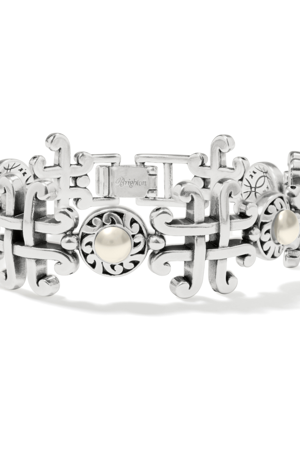 Brighton  JF8593 - Taos Pearl Cross Link Brac - Front Cropped Image