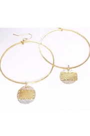Jill Massey Couture Gold Hoop - Product Mini Image
