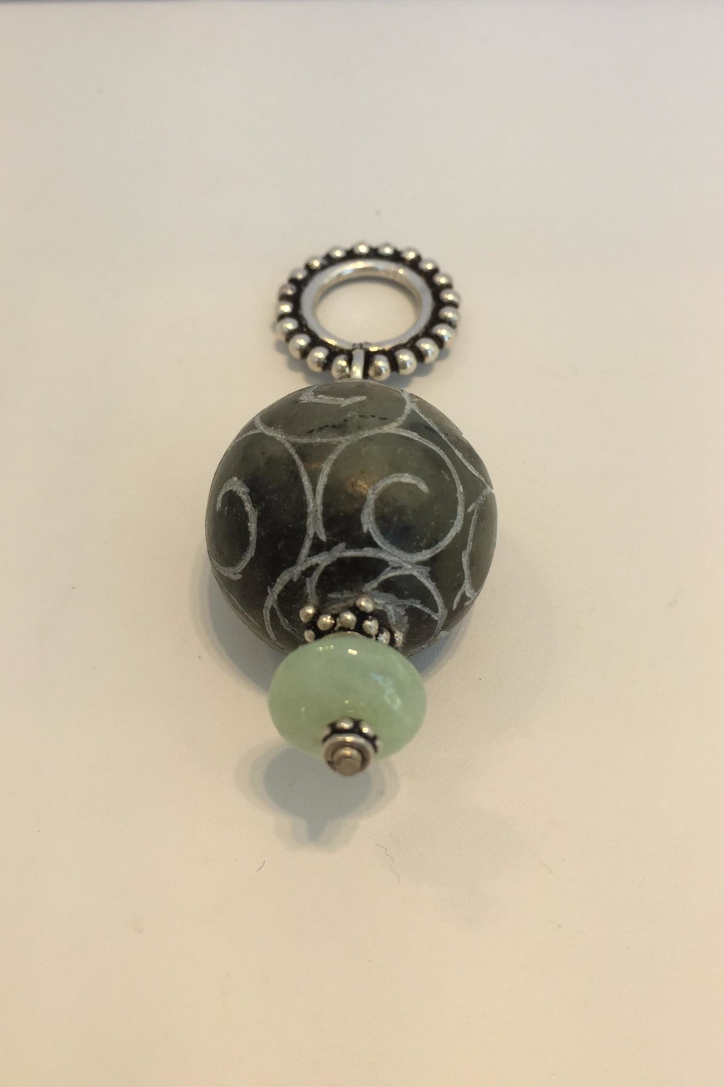 Jill Duzan Carved Jade Pendant - Front Cropped Image