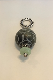 Jill Duzan Carved Jade Pendant - Front cropped