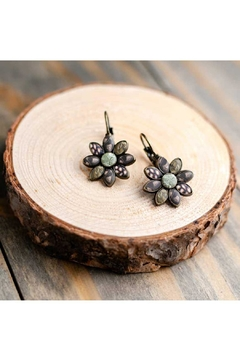 Jilzarah Cafe Flower Earrings - Product List Image