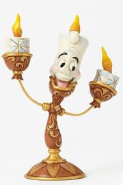 Jim Shore Beauty & The Beast Lumiere Figurine - Side cropped