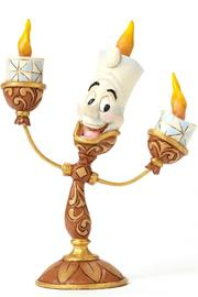 Jim Shore Beauty & The Beast Lumiere Figurine - Front cropped