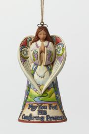 Jim Shore Bereavement Angel Ornament - Front cropped