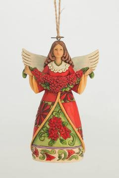 Jim Shore Poinsettia Angel Ornament - Product List Image