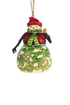 Jim Shore Red & Green Snowman Ornament - Product List Image