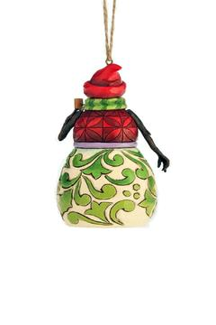 Jim Shore Red & Green Snowman Ornament - Alternate List Image