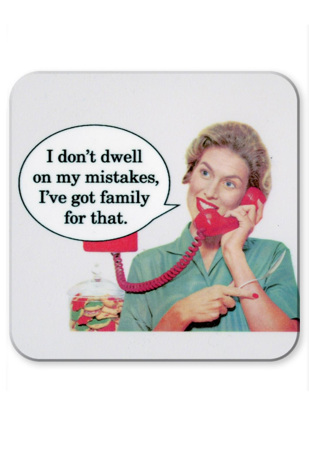 Jim Spinx Dwell Mistake Coaster - Front Cropped Image