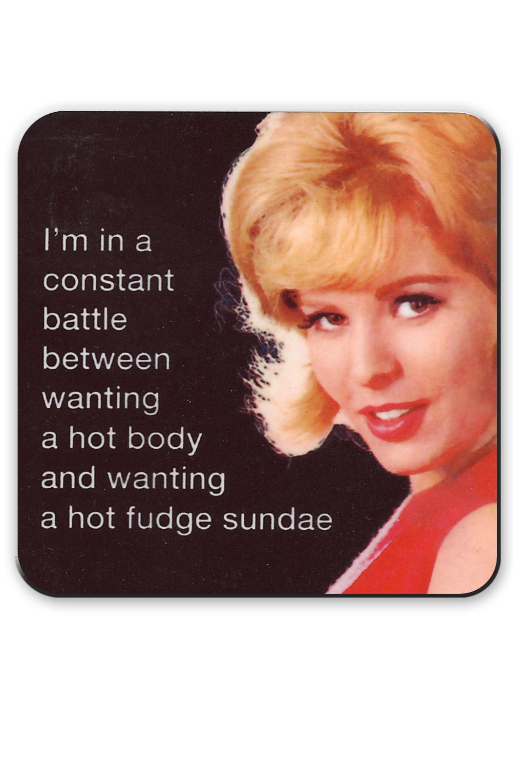 Jim Spinx Hot Body Fudge Coaster - Main Image