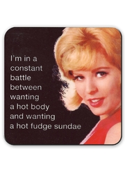 Jim Spinx Hot Body Fudge Coaster - Front cropped