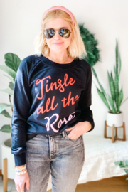 Boat House Apparel Jingle All The Rose' Pullover - Front cropped