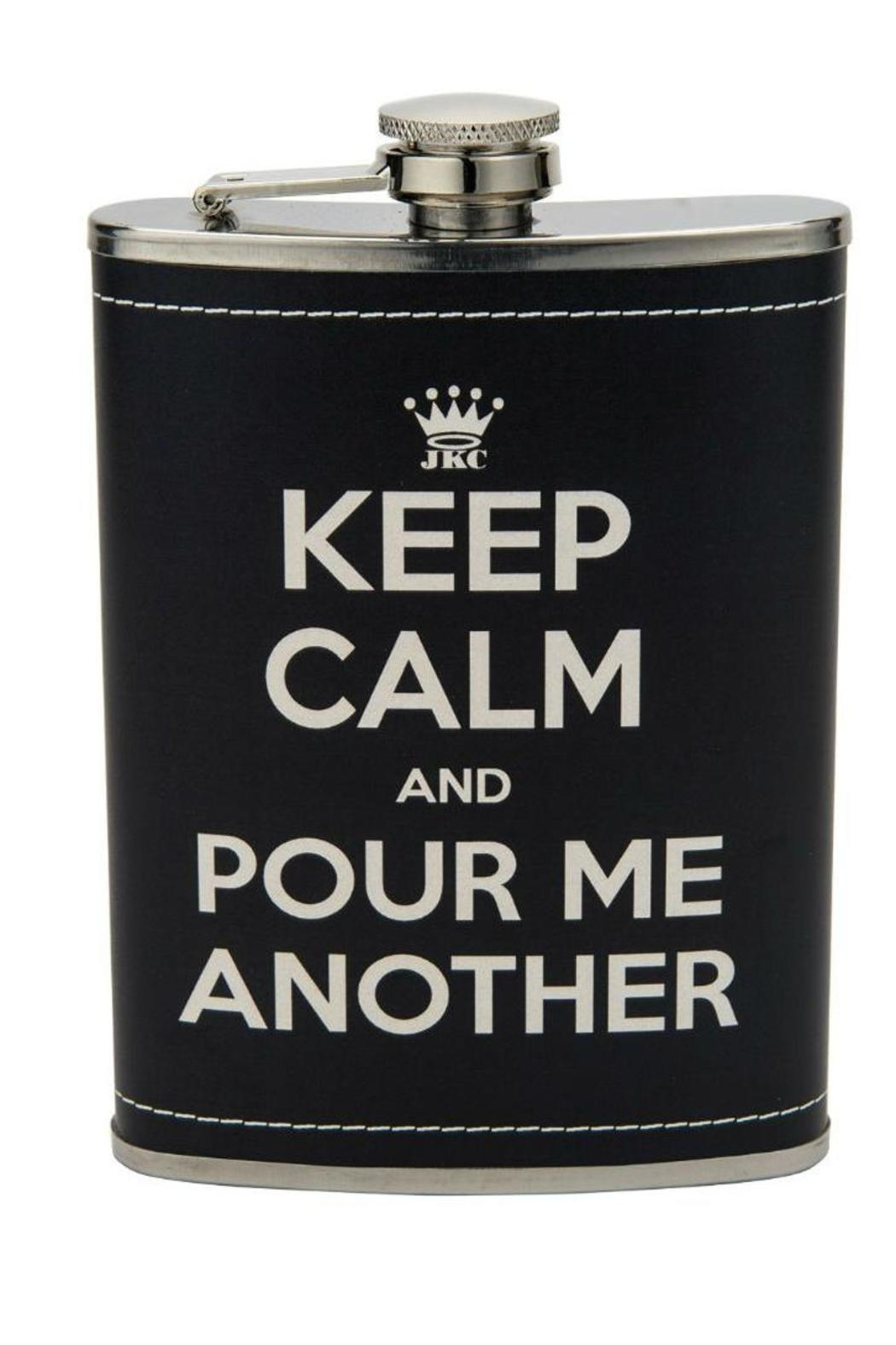 JKC Studio Keep Calm Flask - Front Cropped Image