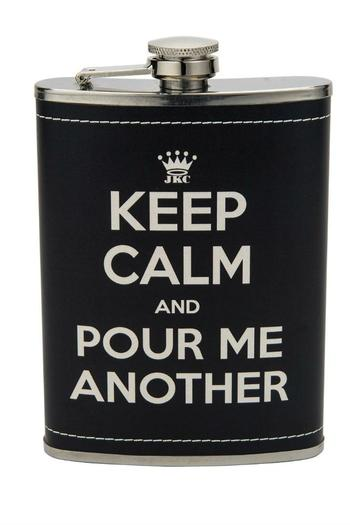 JKC Studio Keep Calm Flask - Main Image