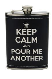 JKC Studio Keep Calm Flask - Front cropped