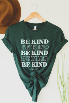 Unknown Factory JL Be Kind Tee in Hunter - Alternate List Image