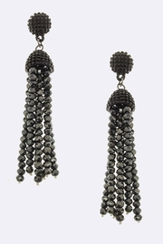 JM Bead Tassel Earrings - Front cropped