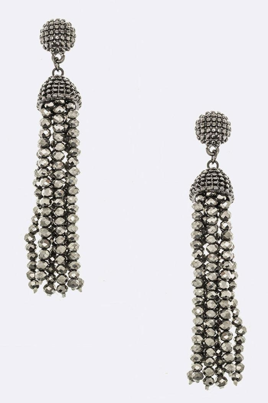 JM Bead Tassel Earrings - Front Cropped Image