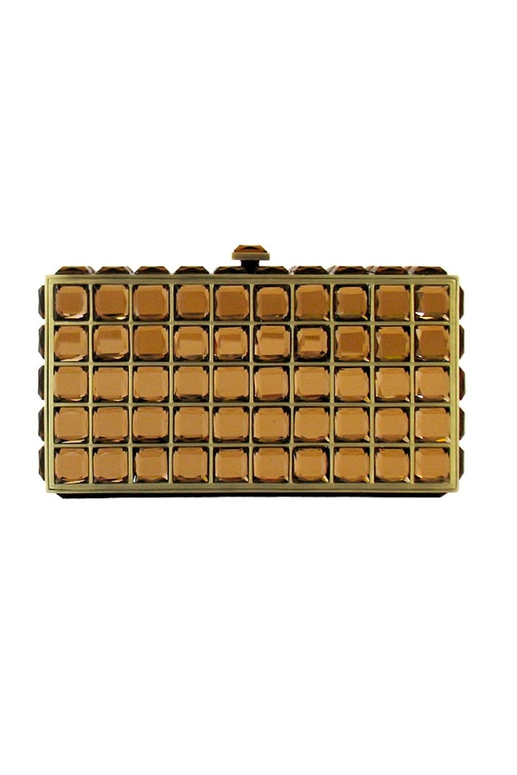 JNB Crystal Mirror Clutch - Front Cropped Image