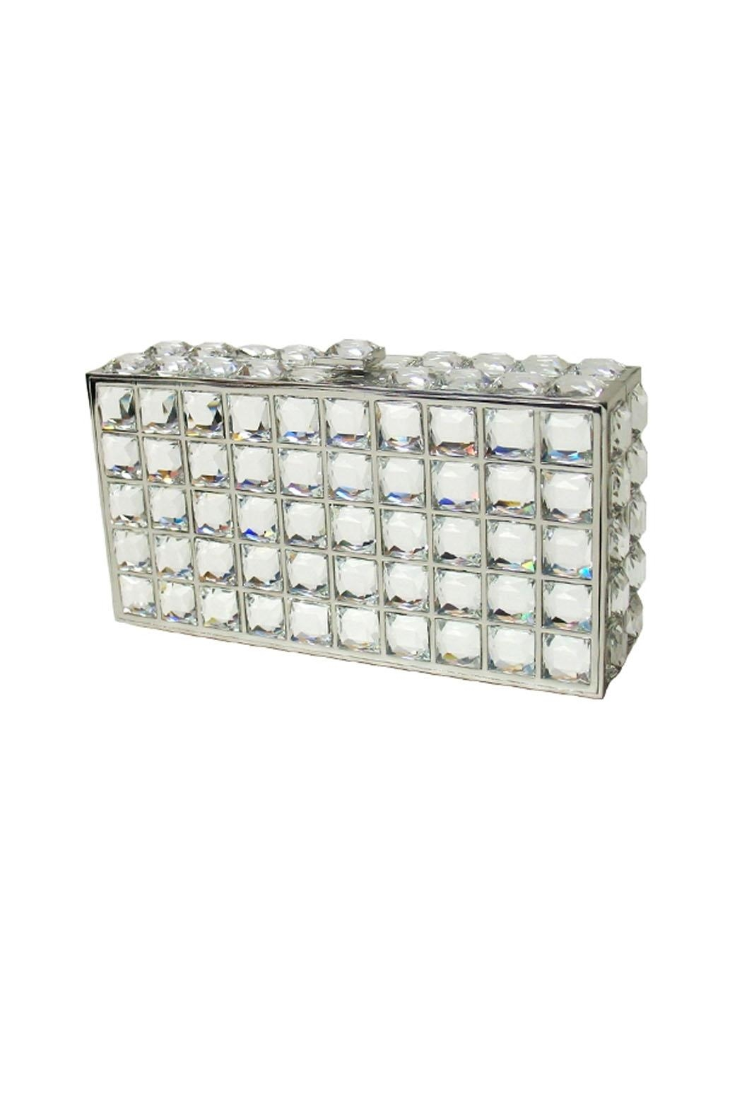 JNB Crystal Mirror Clutch - Main Image