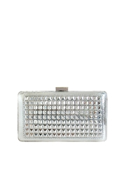 JNB Metallic Studded Clutch - Front cropped