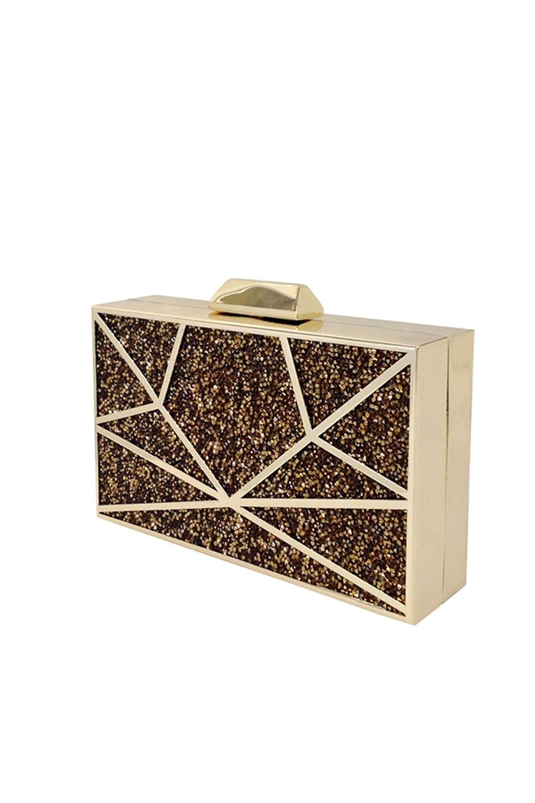 JNB Mosaic Crystal Clutch - Front Full Image