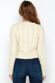 J.O.A. Cropped Cable Sweater - Front full body