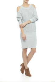 J.O.A. Cold Shoulder Sweater Dress - Front full body