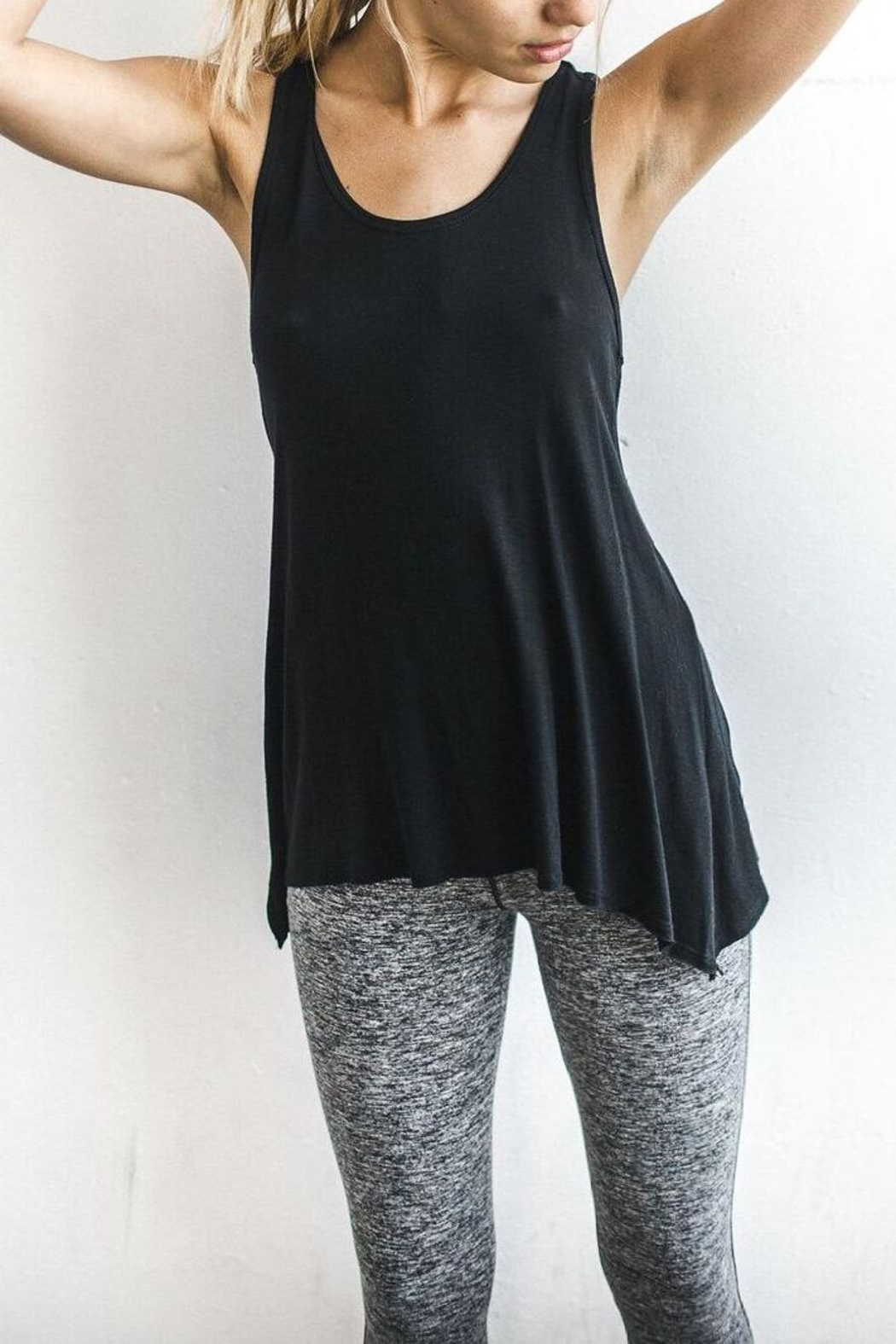 Joah Brown Asymmetrical Tank Top - Main Image