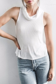 Joah Brown Cowl Neck Ribbed Tank - Product Mini Image