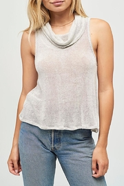 Joah Brown Cowl Neck Tank Top - Front cropped