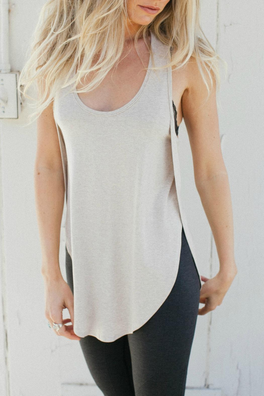 Joah Brown High Low Racerback Tank - Front Cropped Image