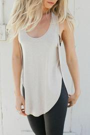 Joah Brown High Low Racerback Tank - Front cropped