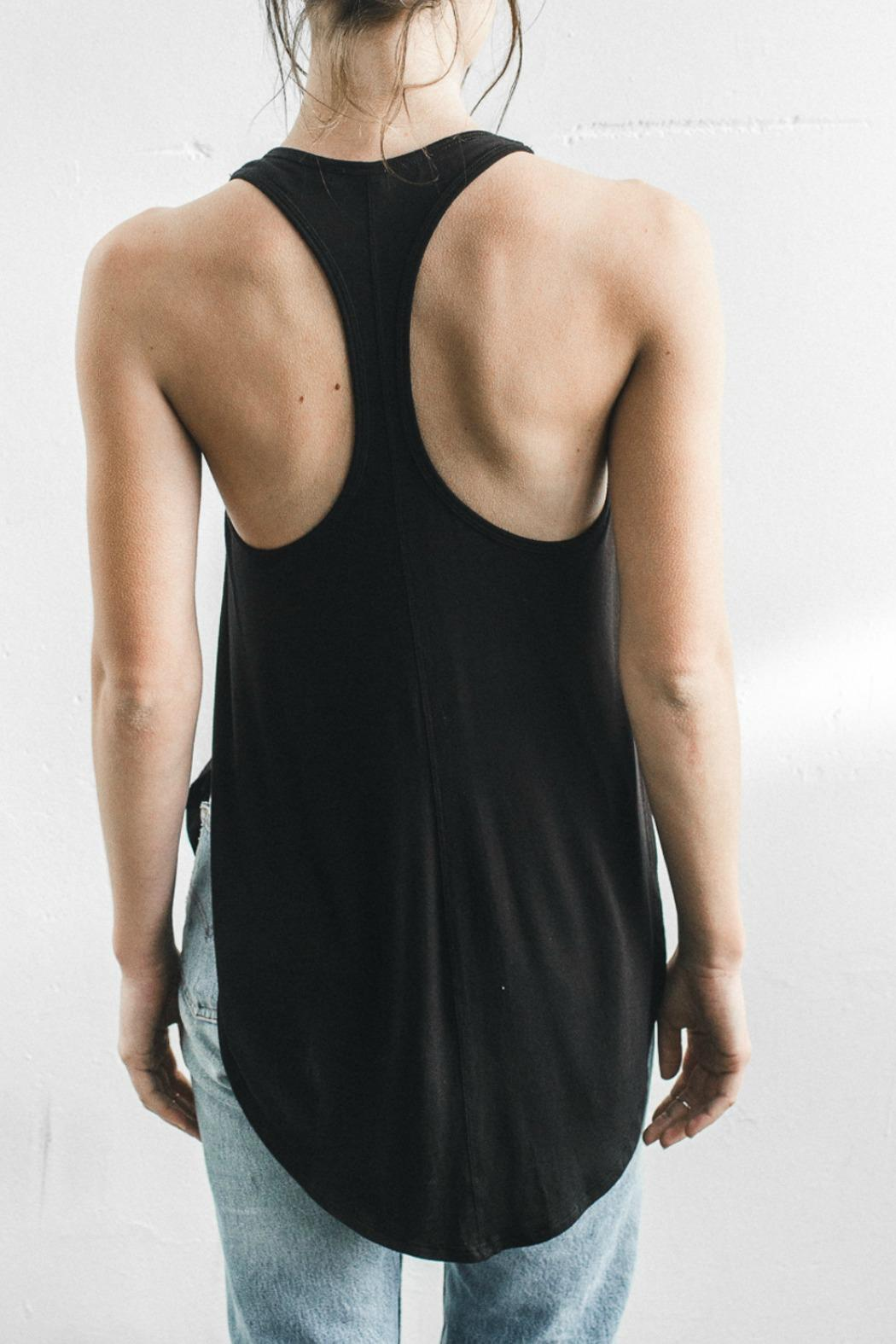 Joah Brown High Low Racerback Tank - Side Cropped Image