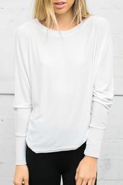Joah Brown Slouchy Long Sleeve Top - Product Mini Image
