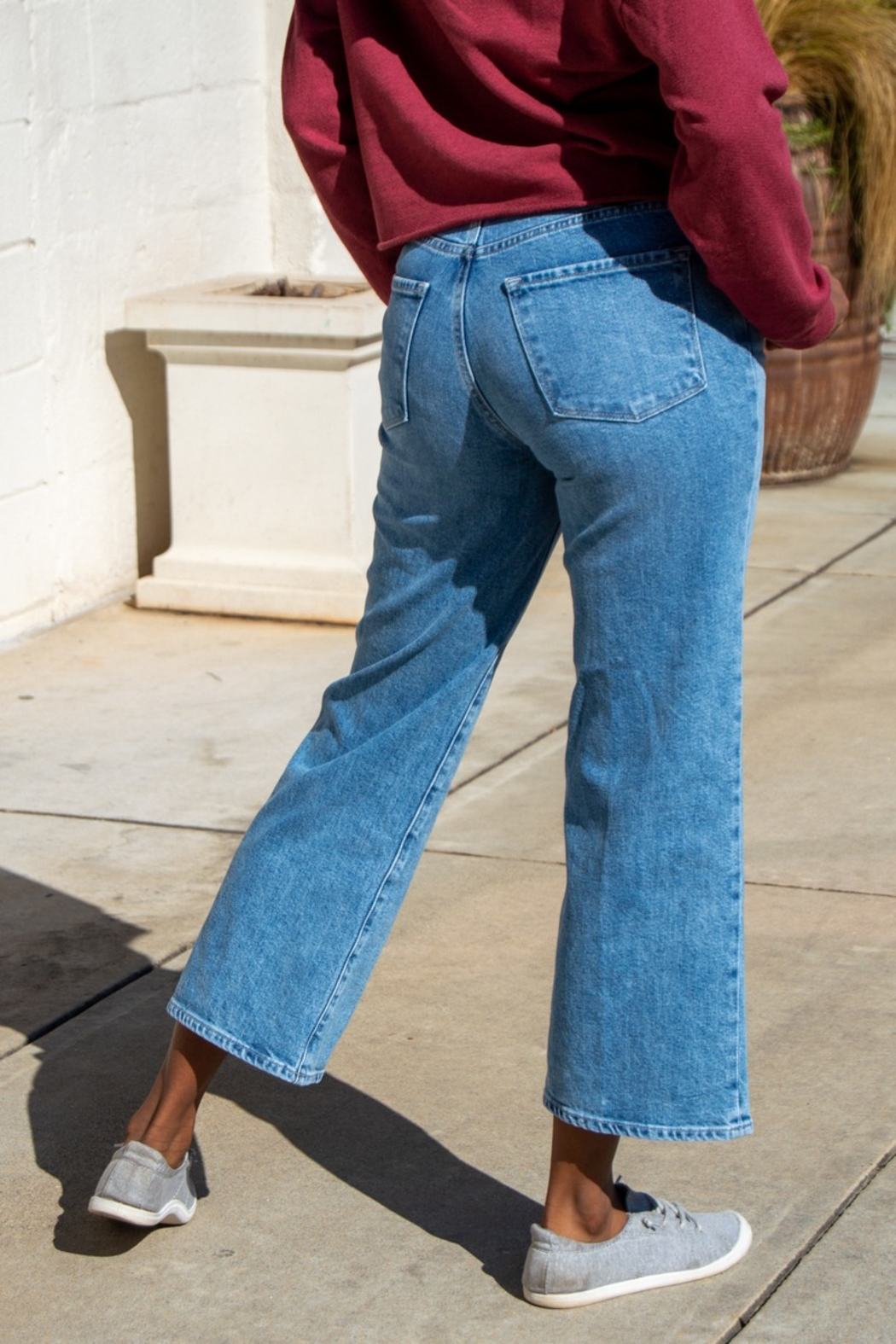 J Brand Joan Chadron Wide Leg Crop Jeans - Front Full Image