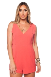 Buddy Love Joan Coral Romper - Product Mini Image