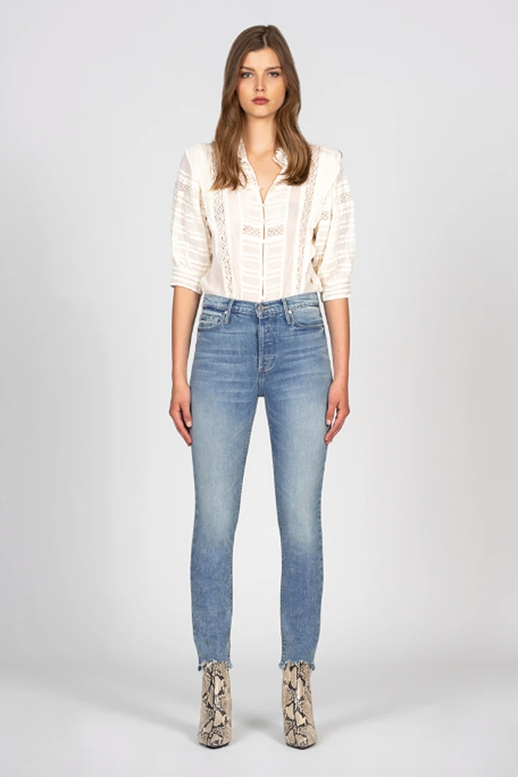Black Orchid Denim Joan Straight - Front Full Image