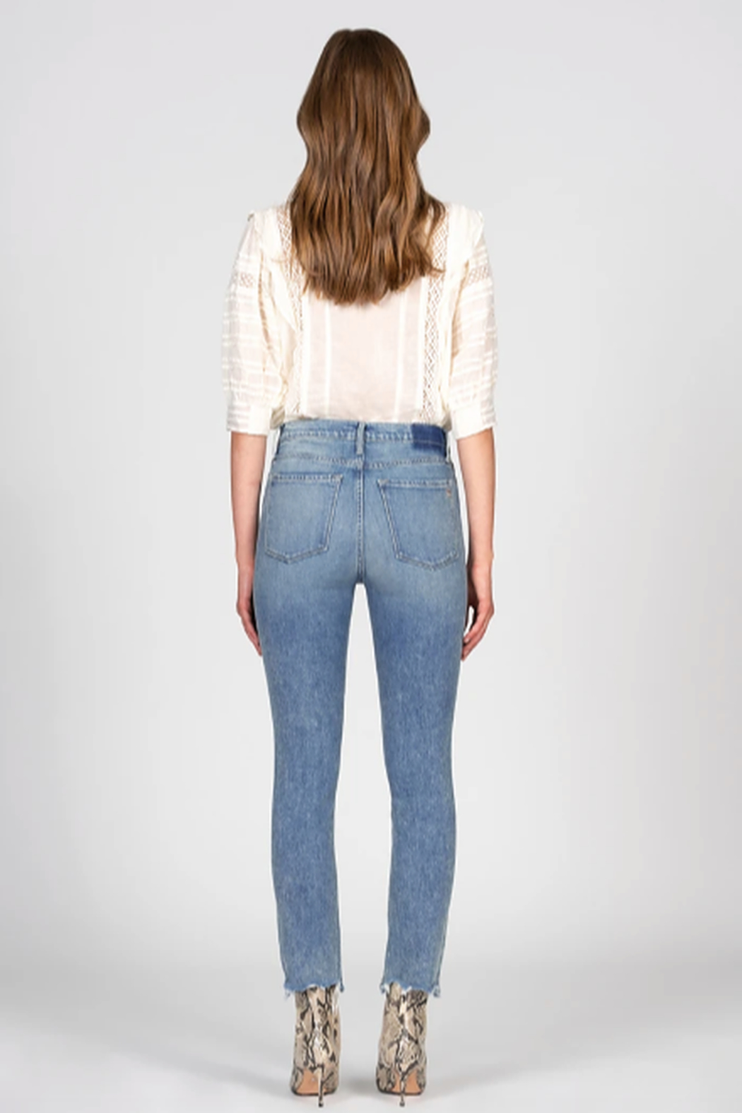 Black Orchid Denim Joan Straight - Back Cropped Image