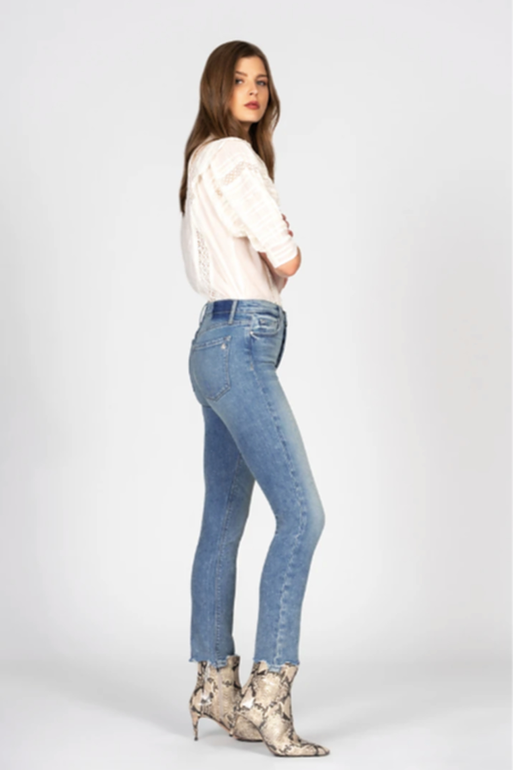 Black Orchid Denim Joan Straight - Side Cropped Image