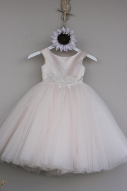 Joan Calabrese for Mon Cheri Blush Tulle Dress - Front cropped