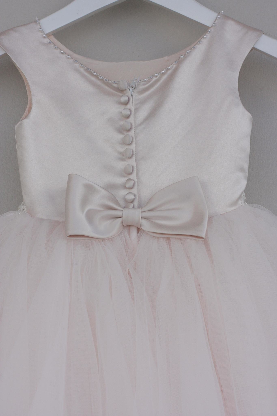 Joan Calabrese for Mon Cheri Blush Tulle Dress - Side Cropped Image