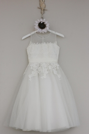 Joan Calabrese for Mon Cheri Ivory Tulle Dress - Front cropped