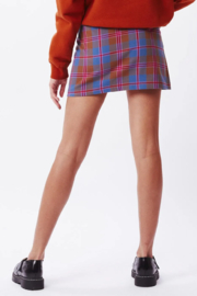 Obey Joanie Plaid Skirt - Front full body