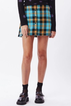 Obey Joanie Plaid Skirt - Product List Image
