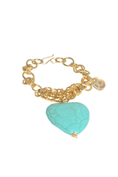 Shoptiques Product: Turqiose Heart Bracelet
