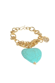 Joanth Carmona Turqiose Heart Bracelet - Front cropped