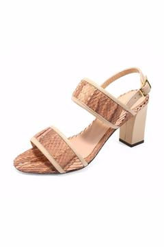 Joaquim Ferrer Brown-Gold Strappy Sandal - Alternate List Image