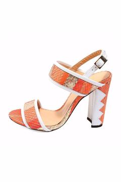 Joaquim Ferrer Coral-Red & White Sandal - Product List Image