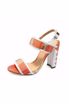 Joaquim Ferrer Coral-Red & White Sandal - Alternate List Image